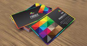 تاثیر رنگ ها در کارت های ویزیت